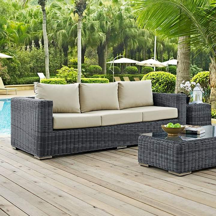Brayden Studio Keiran Patio Sofa With Cushions In 2019 Pertaining To Well Known Keiran Patio Sofas With Cushions (View 2 of 20)