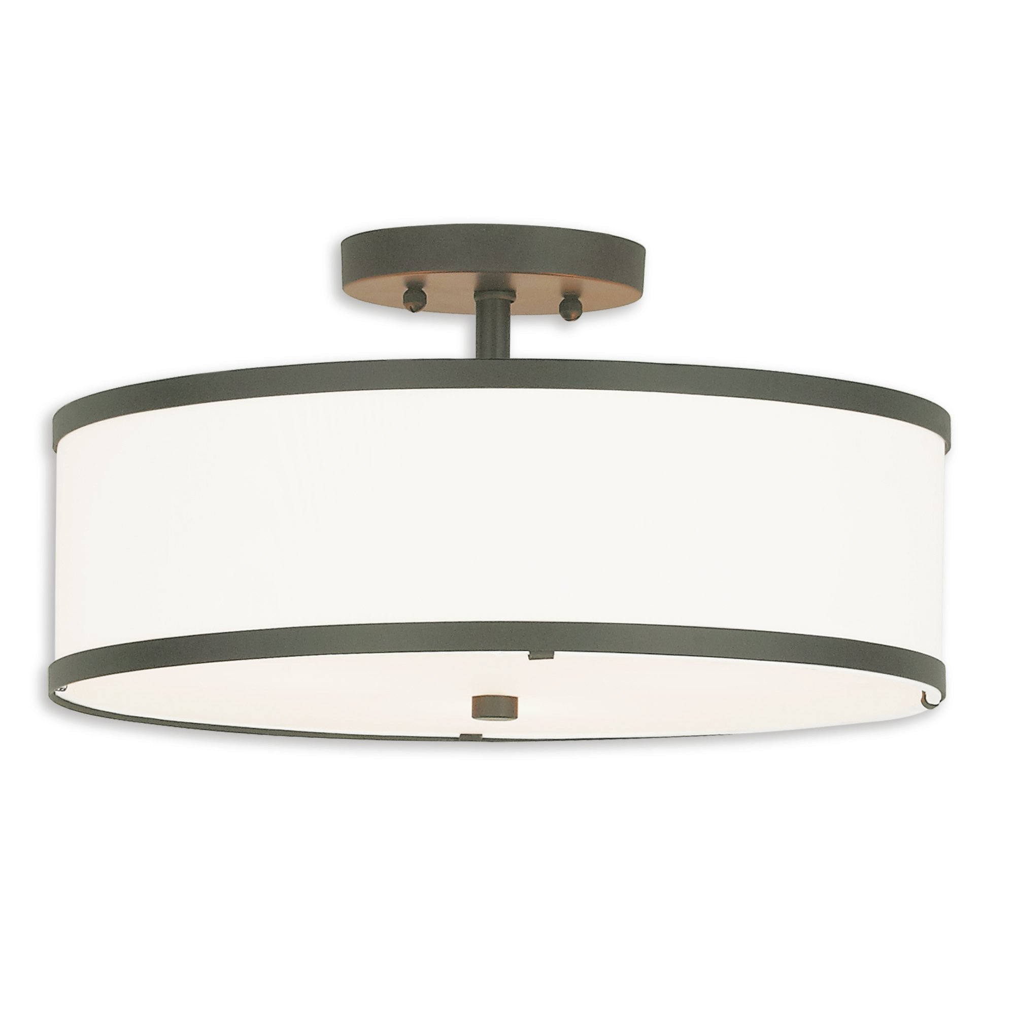 Breithaup 7 Light Drum Chandeliers For Latest Breithaup Drum Cylinder Shade 3 Light Semi Flush Mount (Gallery 15 of 20)