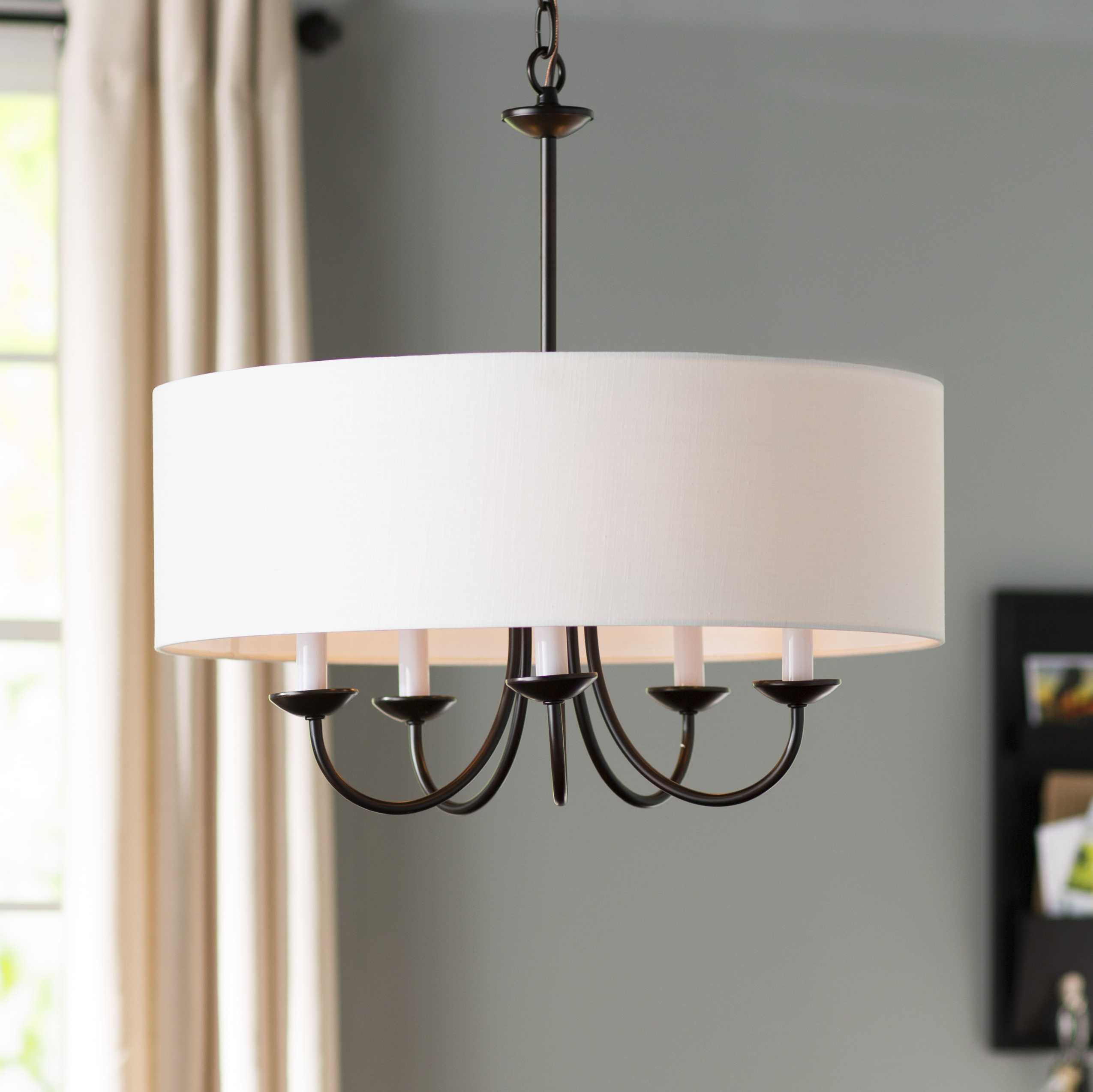 Breithaup 7 Light Drum Chandeliers Pertaining To Most Up To Date Round Chandelier (View 5 of 20)