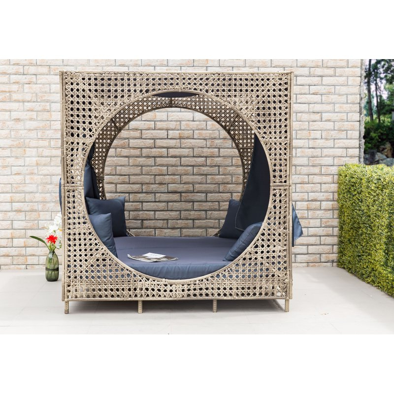 Brennon Cube Patio Daybed With Cushions With Latest Brennon Cube Patio Daybeds With Cushions (View 2 of 20)