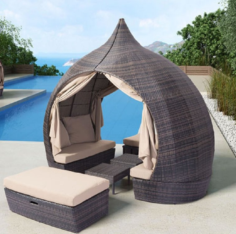 Brennon Cube Patio Daybeds With Cushions Inside Most Recently Released Mcgahey Patio Daybed With Cushions (View 6 of 20)