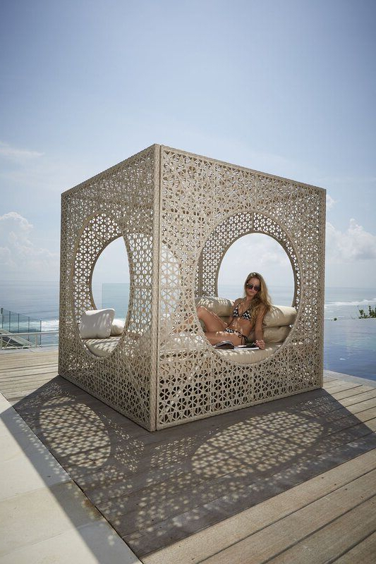 Brennon Cube Patio Daybeds With Cushions Intended For Favorite Cube Patio Daybed With Sunbrella Cushions (View 7 of 20)