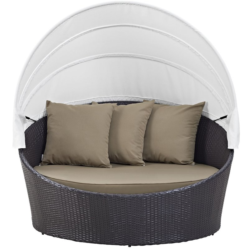 Brentwood Canopy Patio Daybed With Cushions Intended For 2019 Brentwood Canopy Patio Daybeds With Cushions (View 3 of 20)