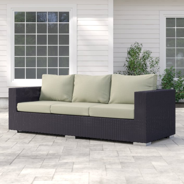 Brentwood Patio Sofa With Cushions In Trendy Brentwood Patio Sofas With Cushions (View 3 of 20)