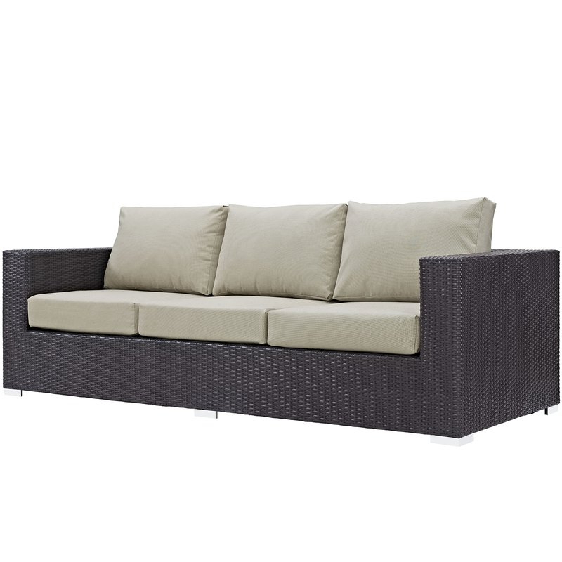 Brentwood Patio Sofa With Cushions Inside Most Popular Belton Patio Sofas With Cushions (View 10 of 20)