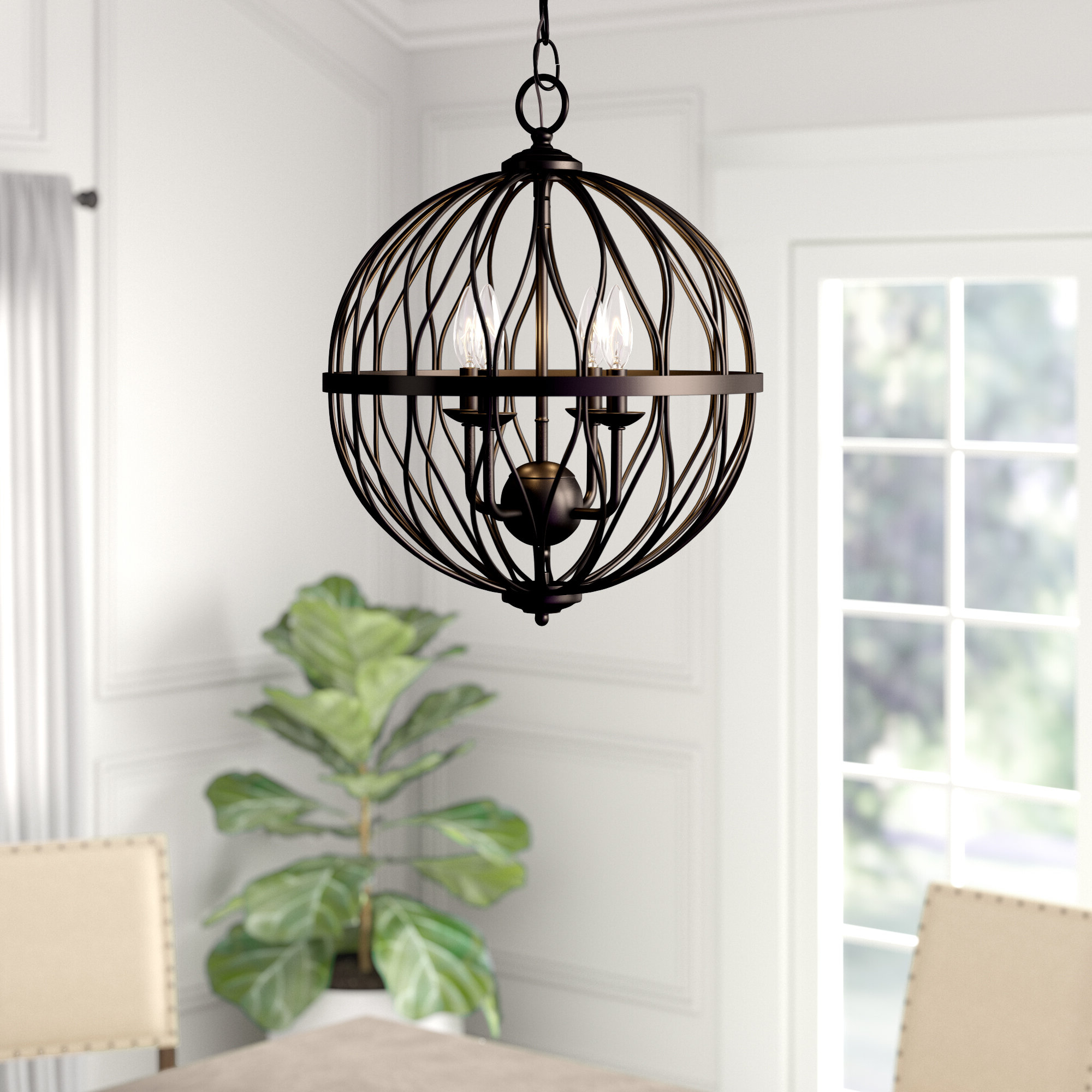 Brittain 3 Light Globe Chandelier For Favorite Shipststour 3 Light Globe Chandeliers (Gallery 6 of 20)