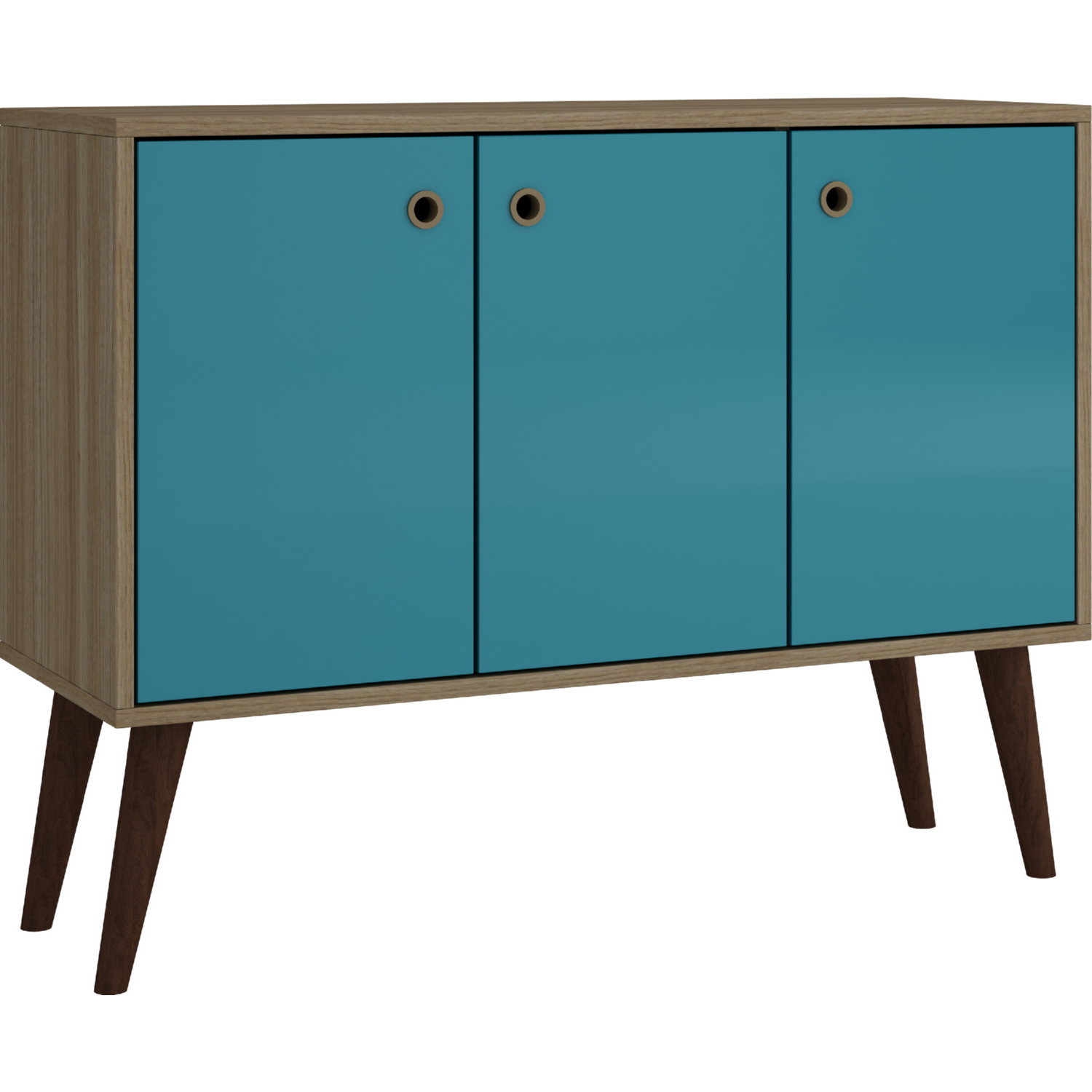 """Bromma 35"""" Buffet Console W/ 3 Shelves & 3 Doors In Oak Throughout Most Recently Released Dovray Sideboards (Gallery 7 of 20)"""