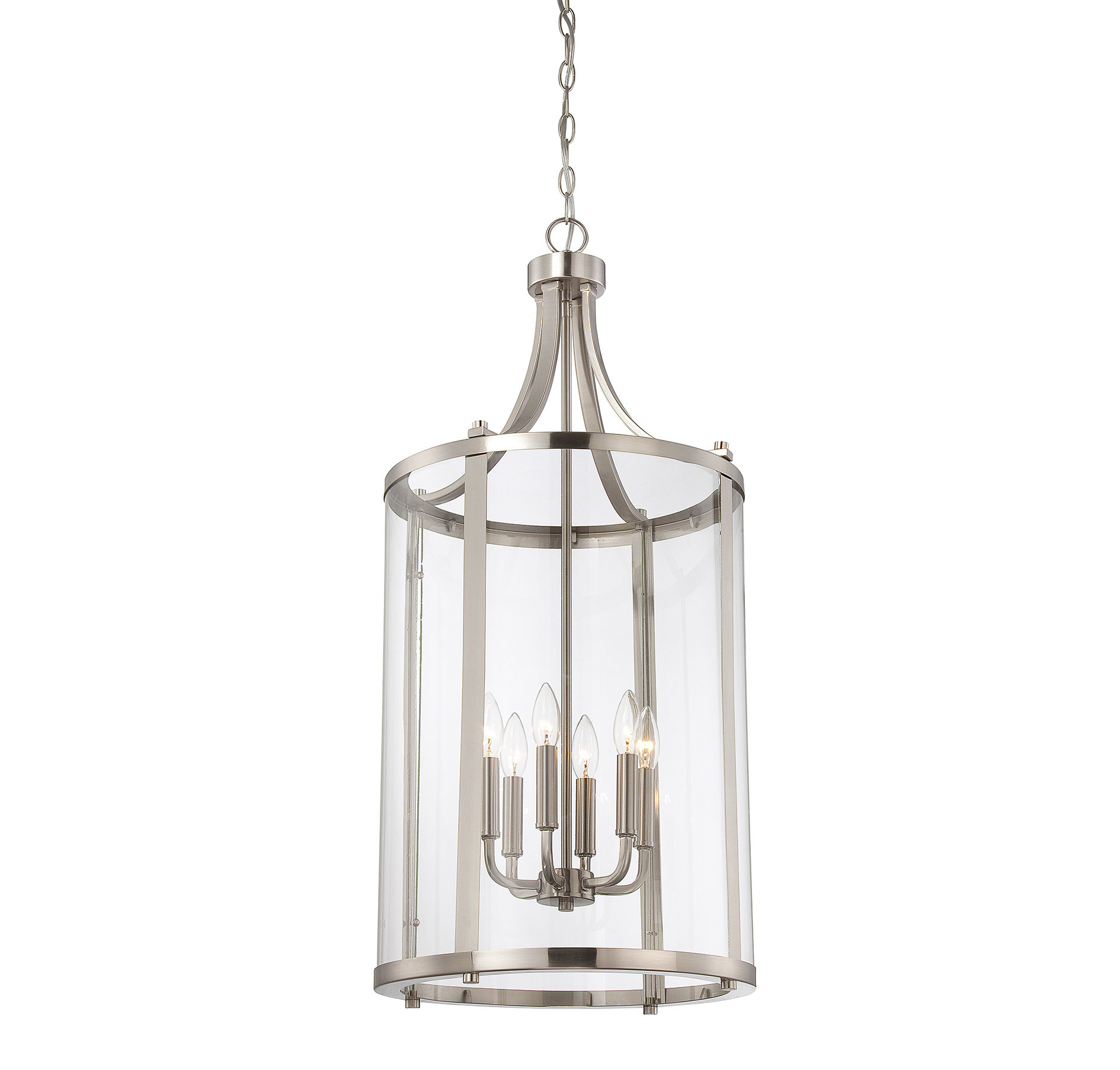 Brookville 6 Light Lantern Cylinder Pendant & Reviews (View 7 of 20)