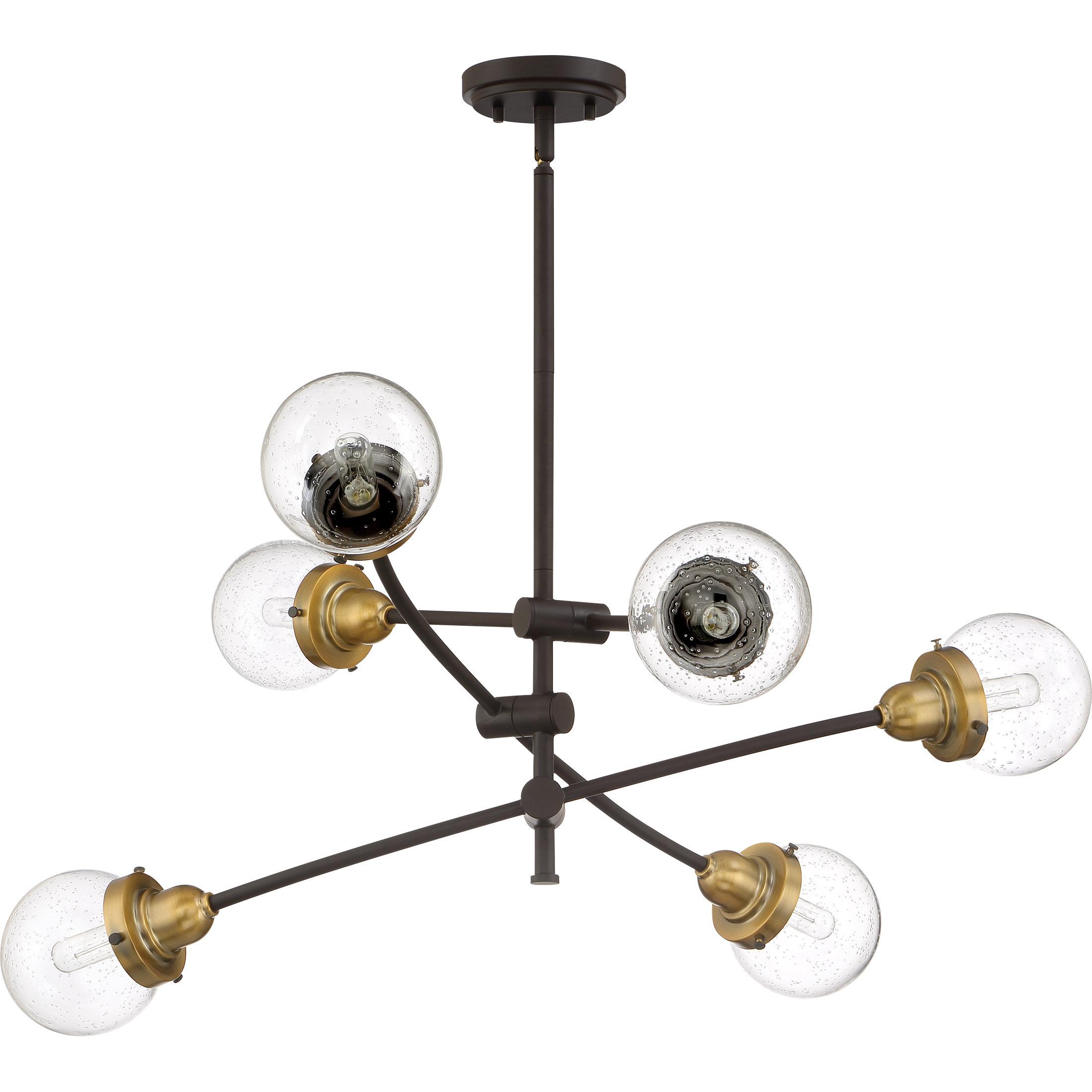 Brucie 6 Light Chandelier Regarding Widely Used Eladia 6 Light Sputnik Chandeliers (View 5 of 20)