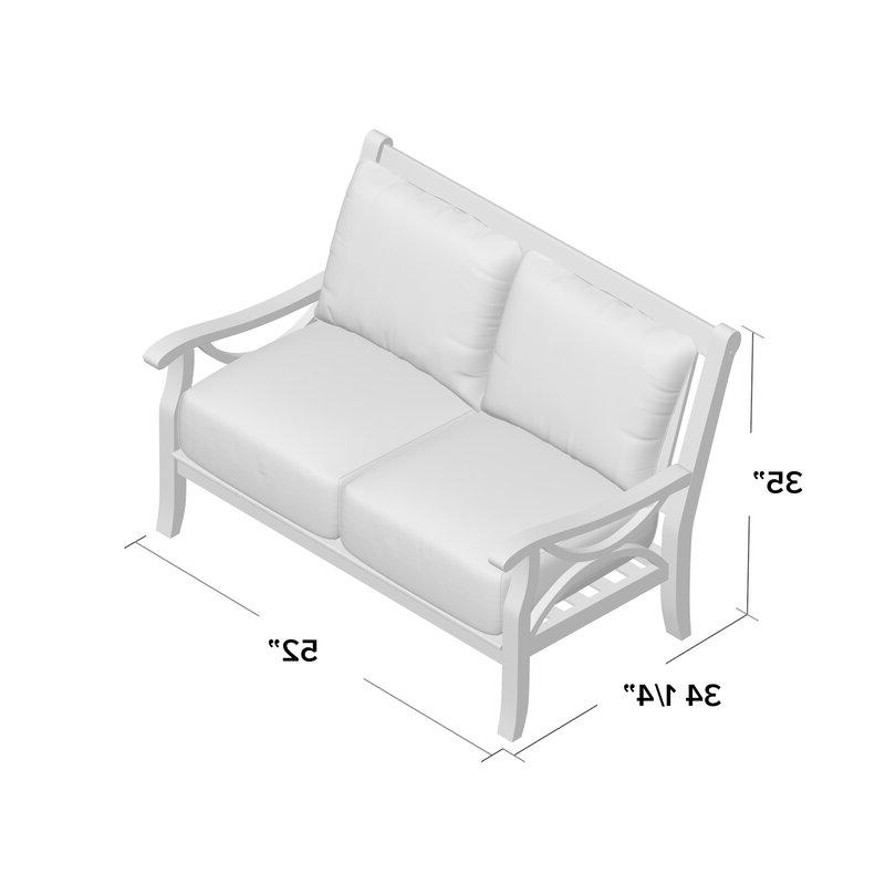 Brunswick Teak Loveseat With Cushions In Current Montford Teak Loveseats With Cushions (View 3 of 20)