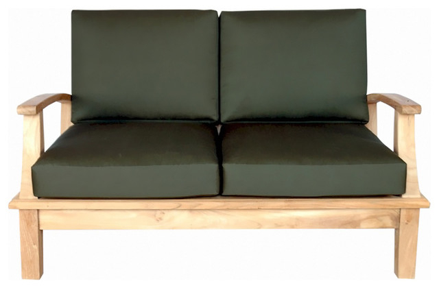Brunswick Teak Loveseats With Cushions Pertaining To Best And Newest Brianna Deep Seating Loveseat With Cushion (View 3 of 20)