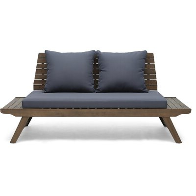 Bullock Outdoor Wooden Loveseat With Cushions Intended For Fashionable Bullock Outdoor Wooden Loveseats With Cushions (View 5 of 20)