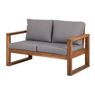 Bullock Outdoor Wooden Loveseats With Cushions With Current Roni Patio Sectional With Cushions & Reviews (Gallery 5 of 20)