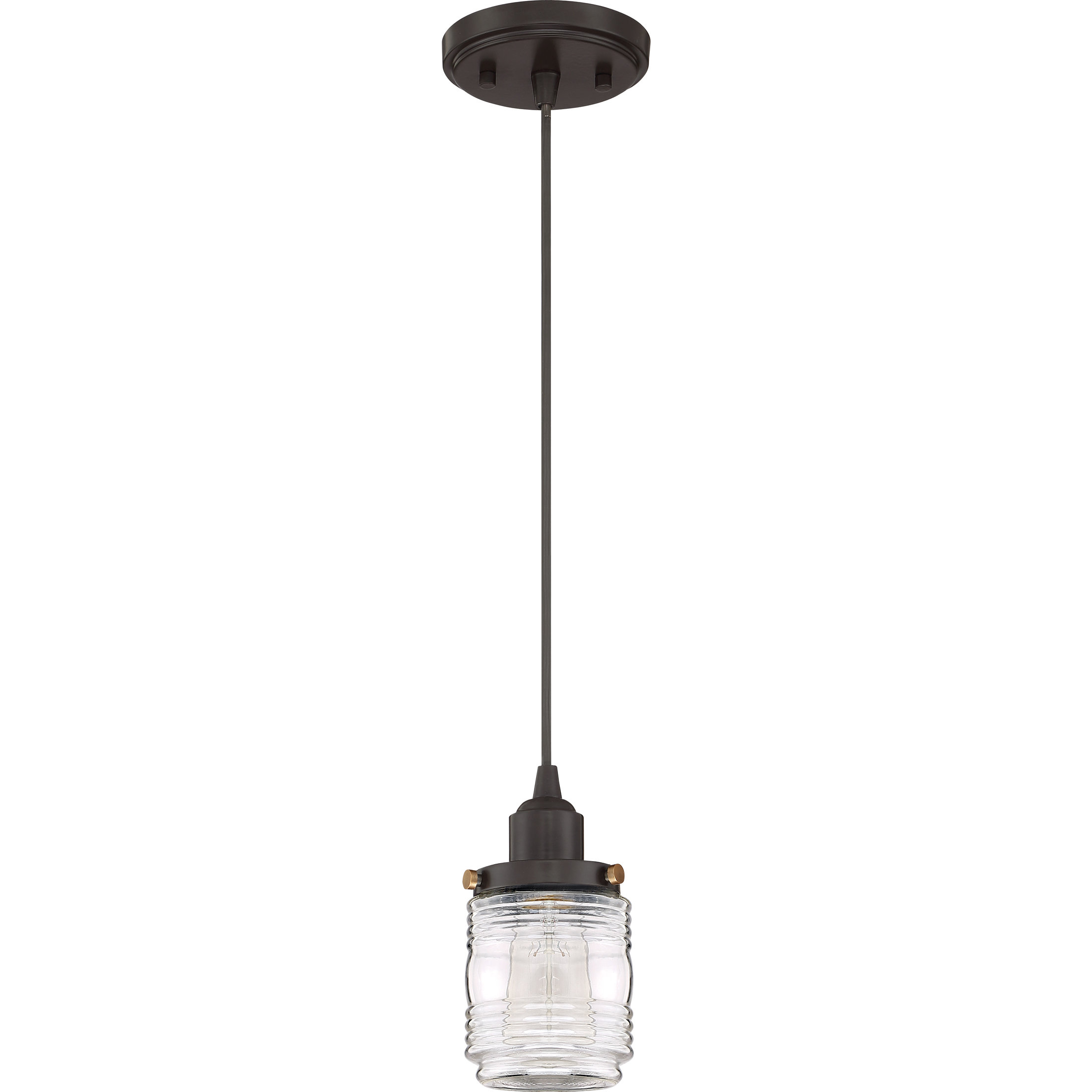 Burgess 1 Light Single Jar Pendant Within Widely Used Houon 1 Light Cone Bell Pendants (Gallery 14 of 20)