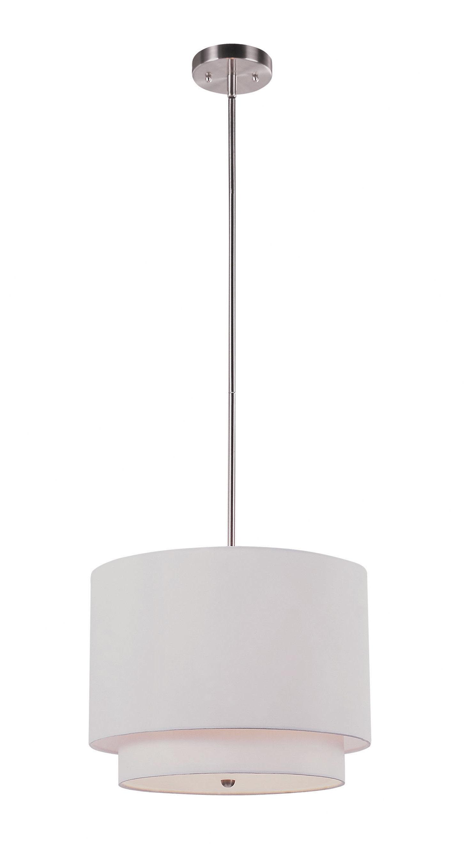 Burslem 3 Light Single Drum Pendants Intended For Current Burslem 3 Light Single Drum Pendant (View 4 of 20)