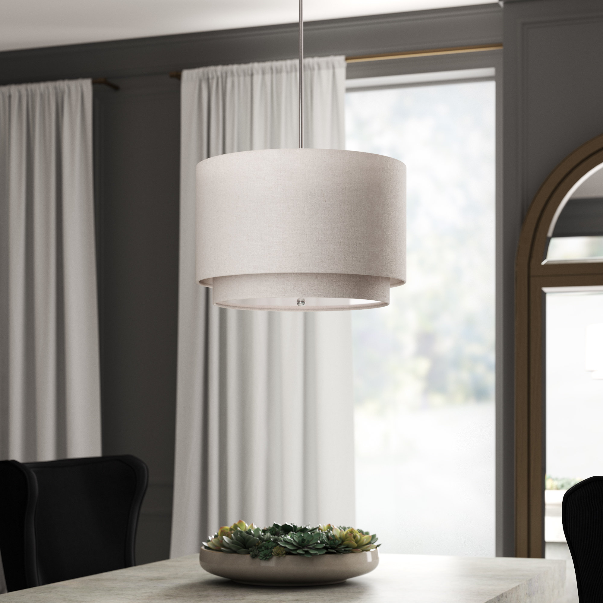 Burslem 3 Light Single Drum Pendants With Fashionable Goodlow 3 Light Drum Pendant (View 9 of 20)