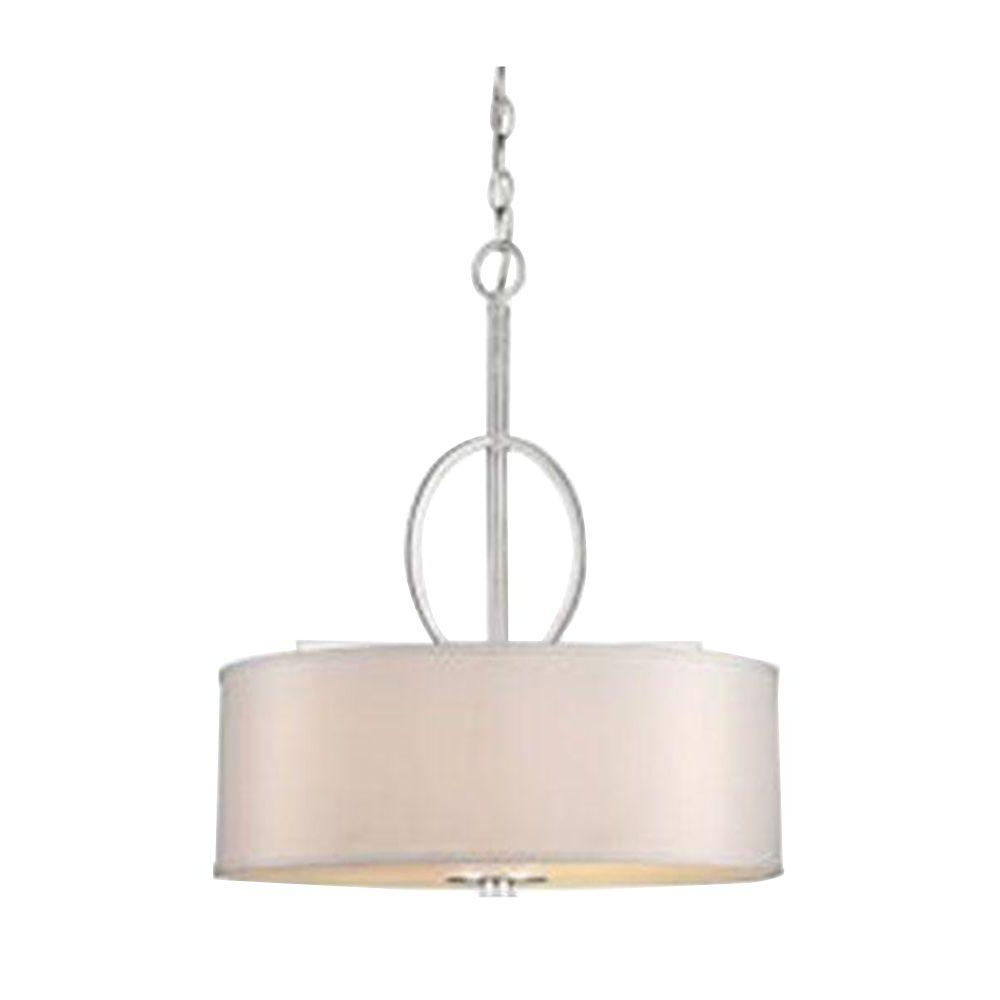 Burton 5 Light Drum Chandeliers In Well Liked Forte Lighting Burton 4 Light Brushed Nickel Incandescent Bowl Pendant (View 15 of 20)