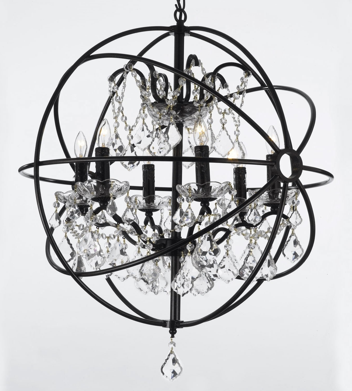 Calderdale Orb 6 Light Globe Chandelier For Well Liked Eastbourne 6 Light Unique / Statement Chandeliers (Gallery 19 of 20)