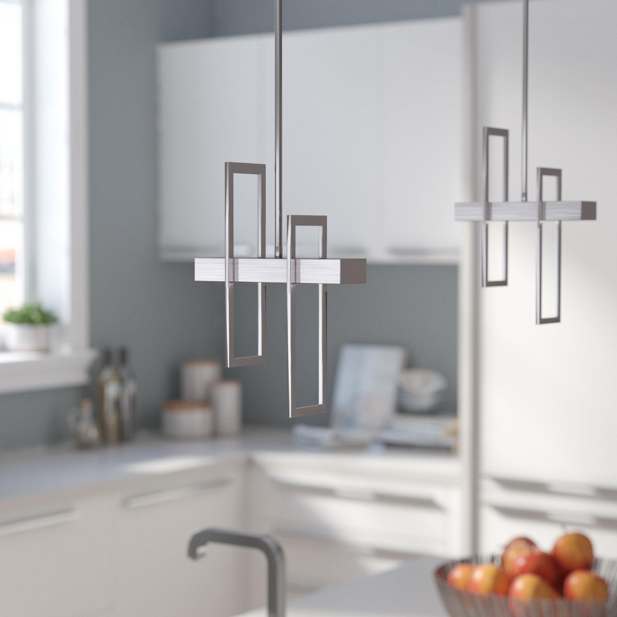 Callington 1 Light Led Single Geometric Pendants Pertaining To 2019 Wade Logan Callington 1 Light Led Single Geometric Pendant (Gallery 1 of 20)