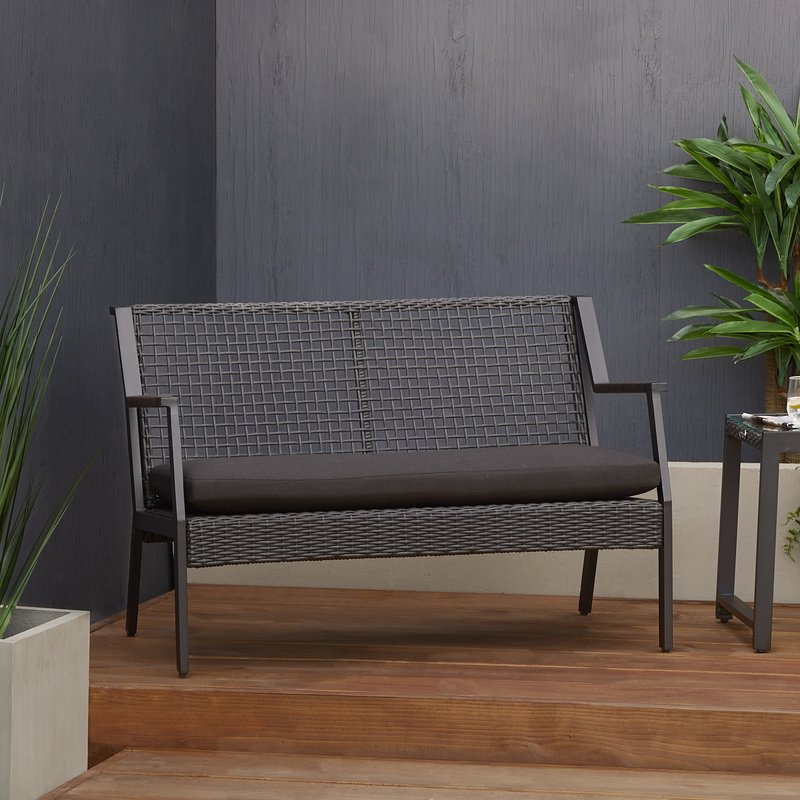 Calvin Patio Loveseat With Cushions Within Widely Used Calvin Patio Loveseats With Cushions (View 3 of 20)