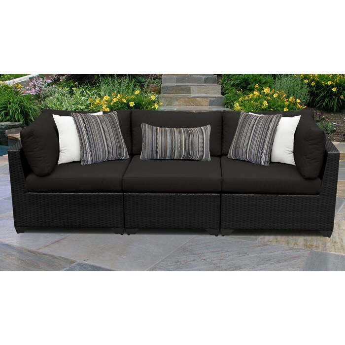 Camak Patio Sofa With Cushions Intended For Popular Camak Patio Loveseats With Cushions (View 8 of 20)