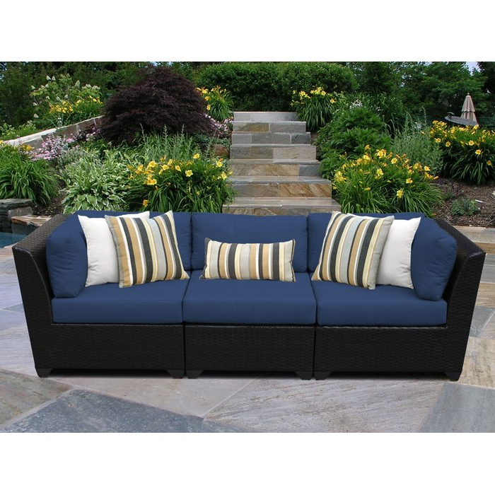 Camak Patio Sofa With Cushions With Fashionable Clifford Patio Sofas With Cushions (View 16 of 20)