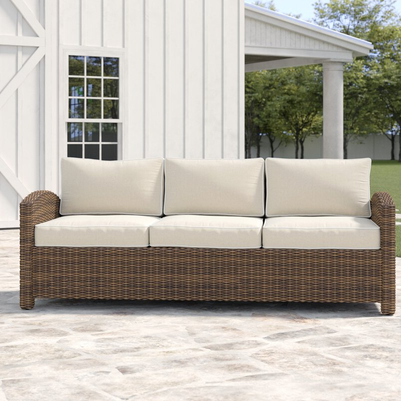 Camak Patio Sofas With Cushions For Famous Lawson Patio Sofa With Cushions (View 4 of 20)