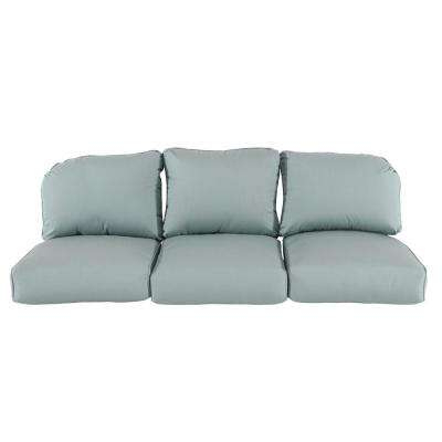 Camden Sunbrella Canvas Spa Replacement Outdoor Sofa Cushions For Widely Used Camak Patio Sofas With Cushions (View 19 of 20)