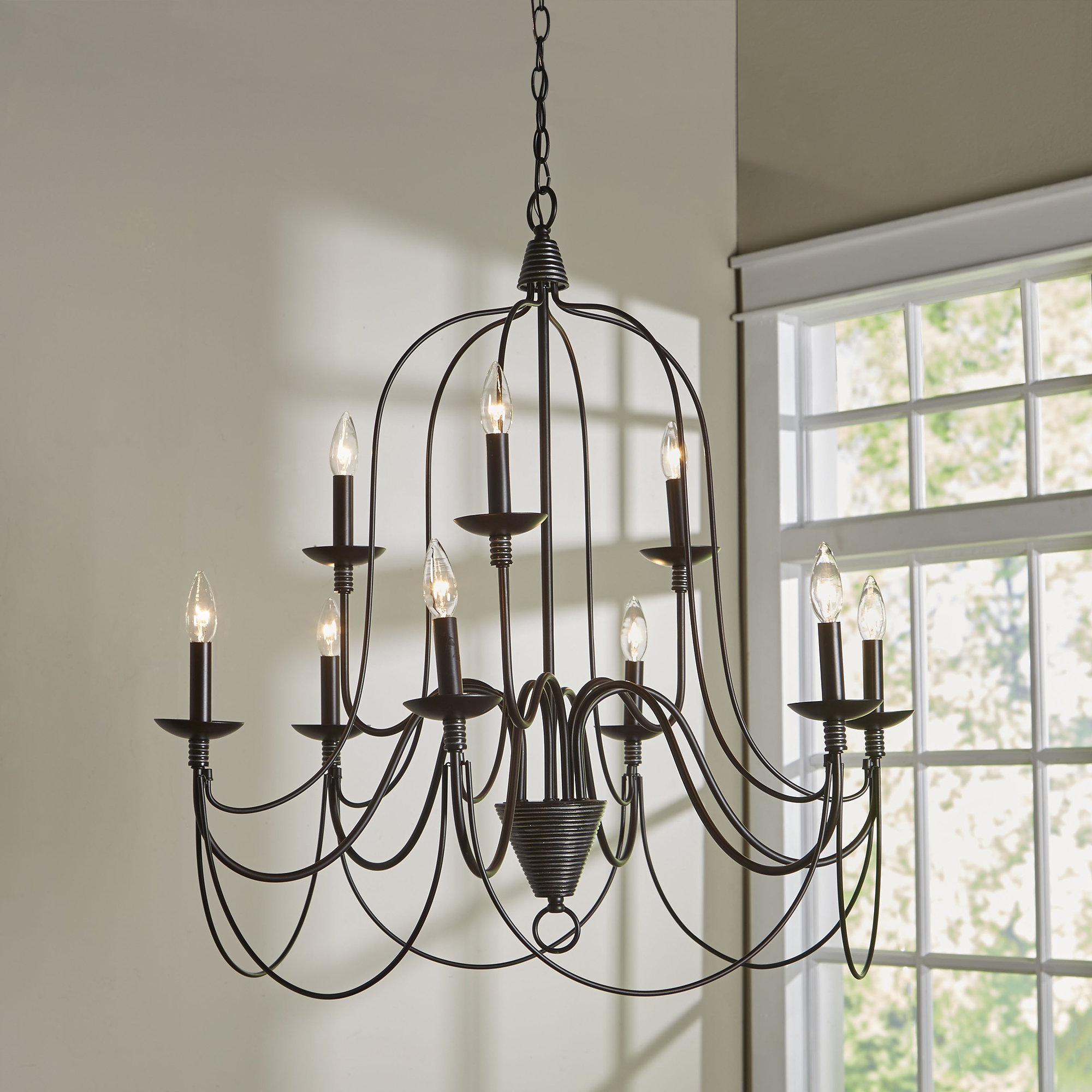 Camilla 9 Light Candle Style Chandeliers With Regard To Most Popular Three Posts Watford 9 Light Candle Style Chandelier (View 8 of 20)
