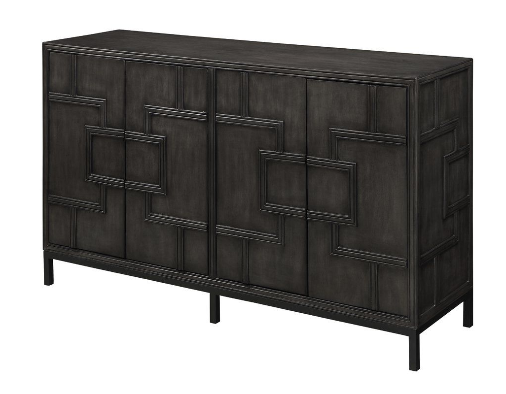 Candide Dark Gray Wood Credenza (View 8 of 20)