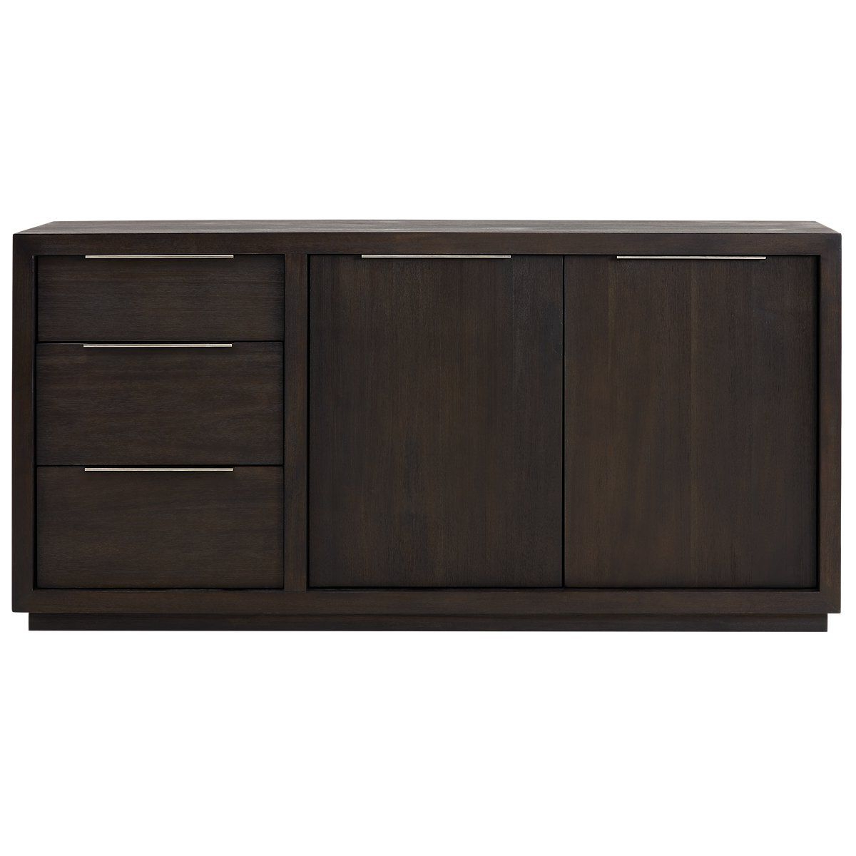 Candide Wood Credenzas With Regard To Preferred Candide Dark Gray Wood Credenza (View 4 of 20)