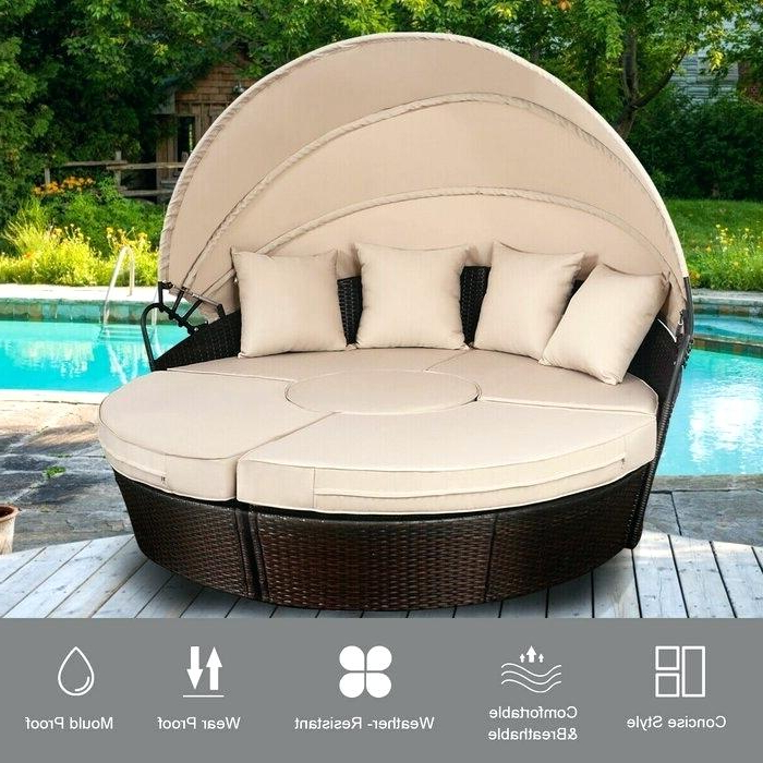 Canopy Daybed Outdoor – Slydeal.co In Well Known Brentwood Canopy Patio Daybeds With Cushions (Gallery 13 of 20)