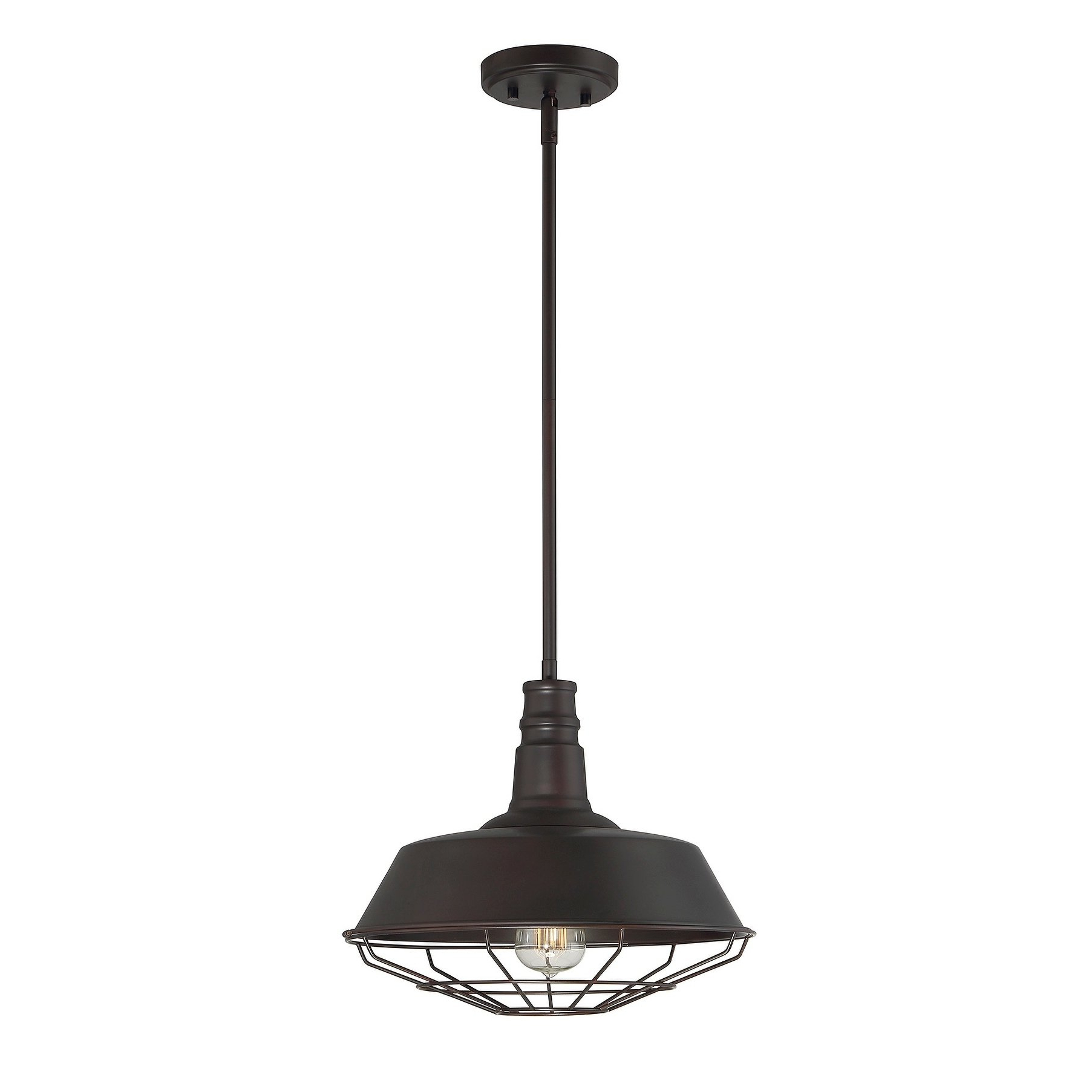 Carbon Loft Melville 1 Light Pendant With Oil Rubbed Bronze Throughout 2019 Freeda 1 Light Single Dome Pendants (View 4 of 20)