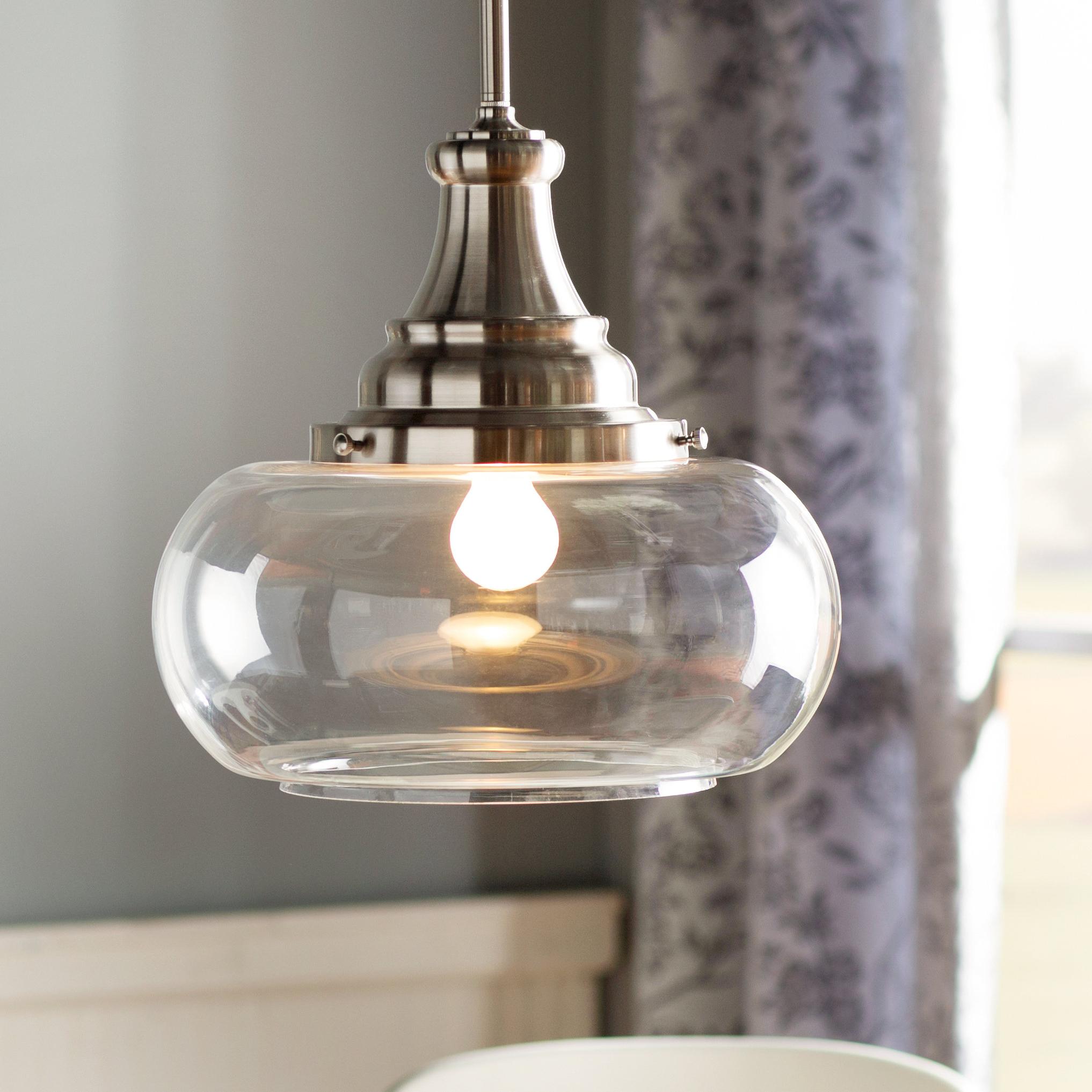 Carey 1 Light Single Bell Pendants Throughout 2020 1 Light Single Dome Pendant (Gallery 16 of 20)