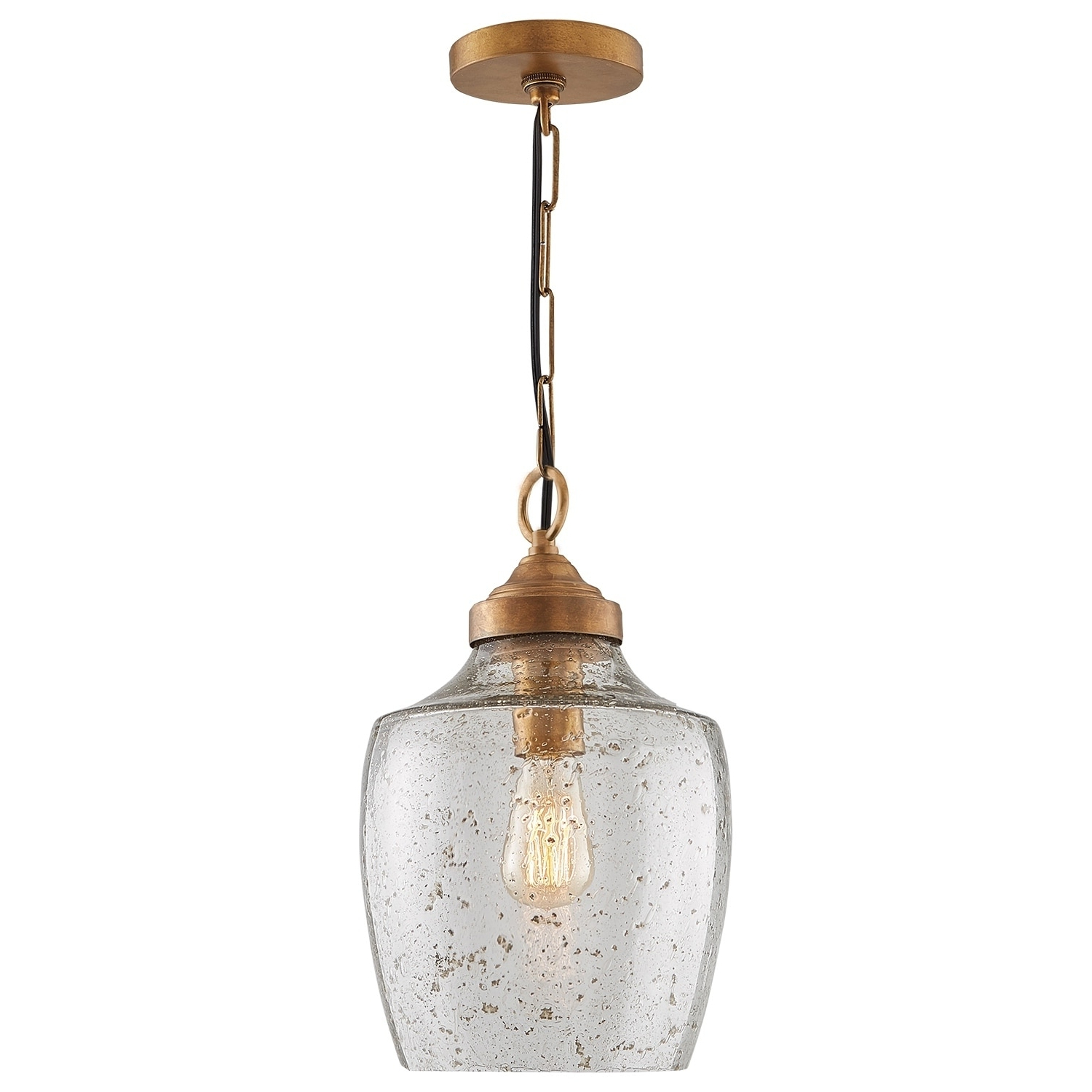 Carey 1 Light Single Bell Pendants With Regard To Fashionable Transitional 1 Light Glass Pendant With Rose Brass – Rose (View 10 of 20)