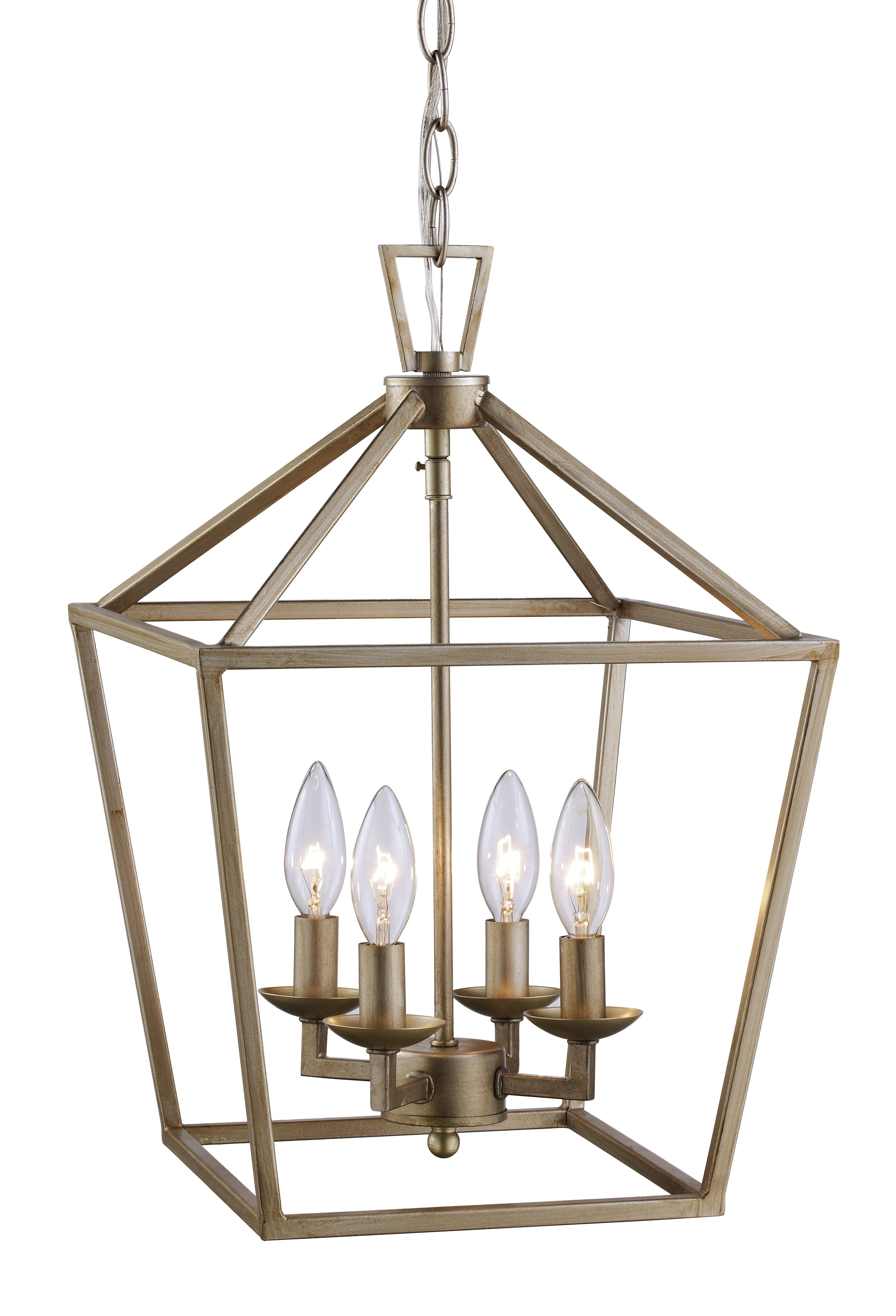 Carmen 6 Light Lantern Geometric Pendants Throughout Best And Newest Laurel Foundry Modern Farmhouse Carmen 4 Light Lantern Geometric Pendant (View 17 of 20)