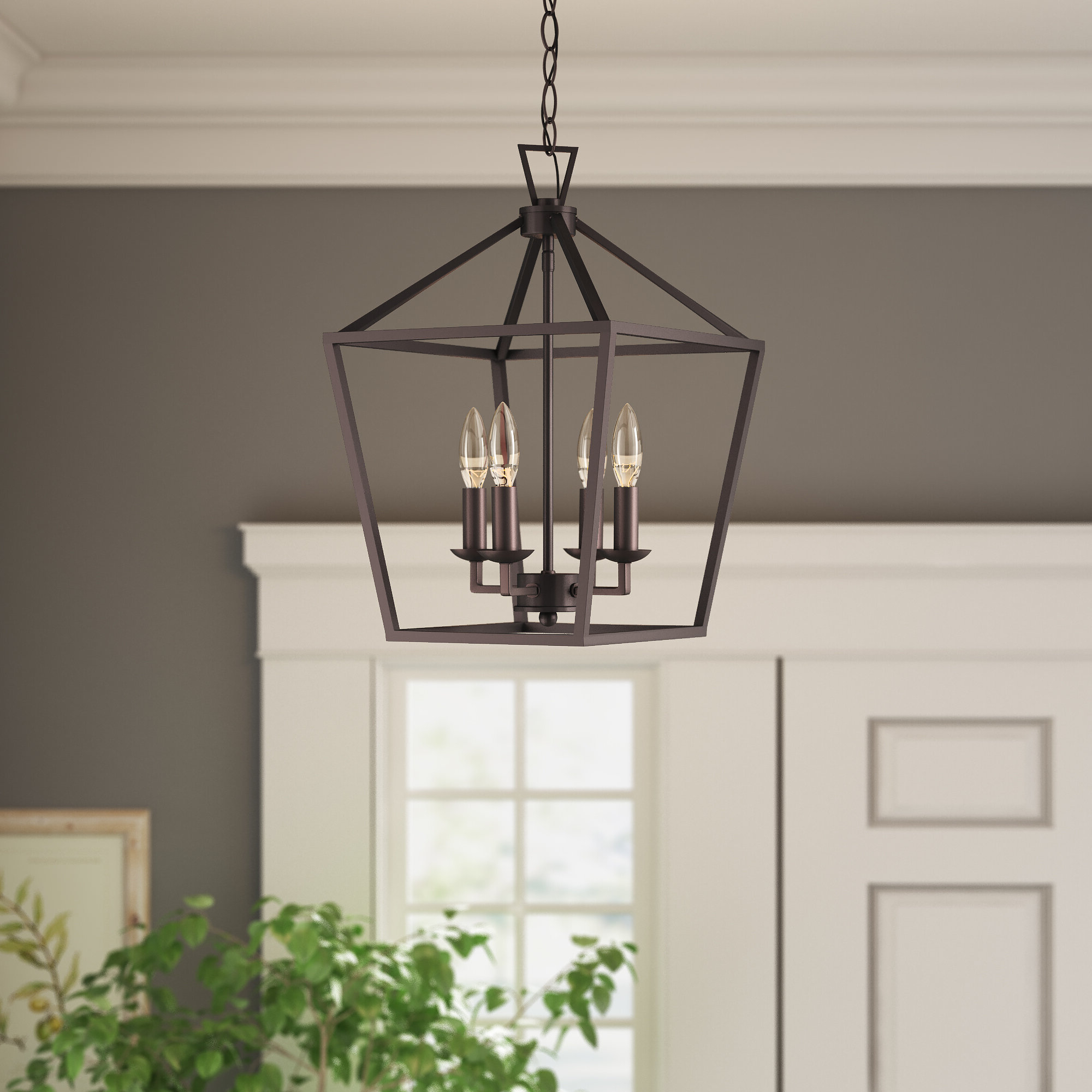 Carmen 6 Light Lantern Geometric Pendants Within Famous Carmen 4 Light Lantern Geometric Pendant (View 10 of 20)