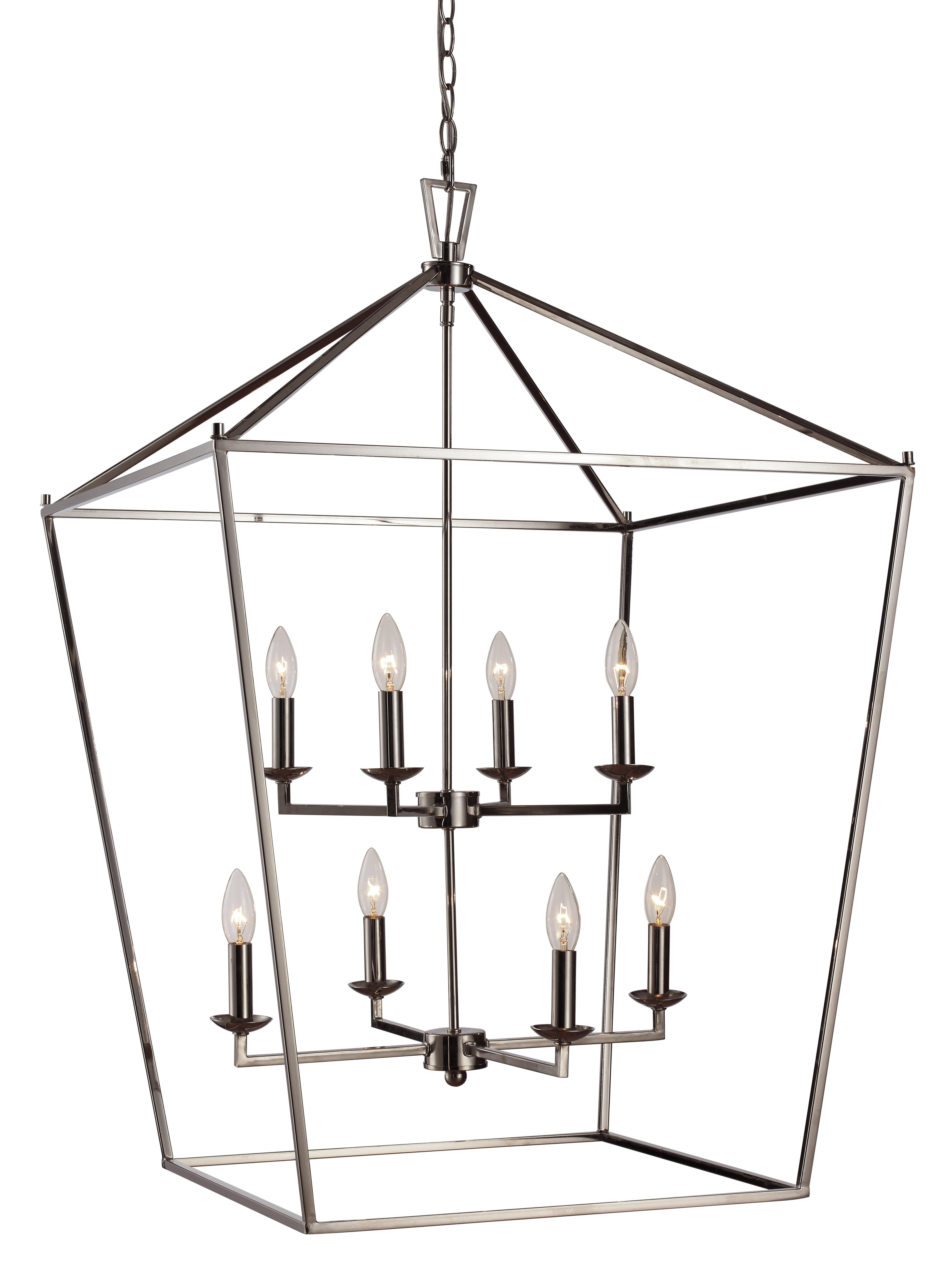 Carmen 8 Light Lantern Pendant In Favorite Carmen 8 Light Lantern Geometric Pendants (Gallery 8 of 20)