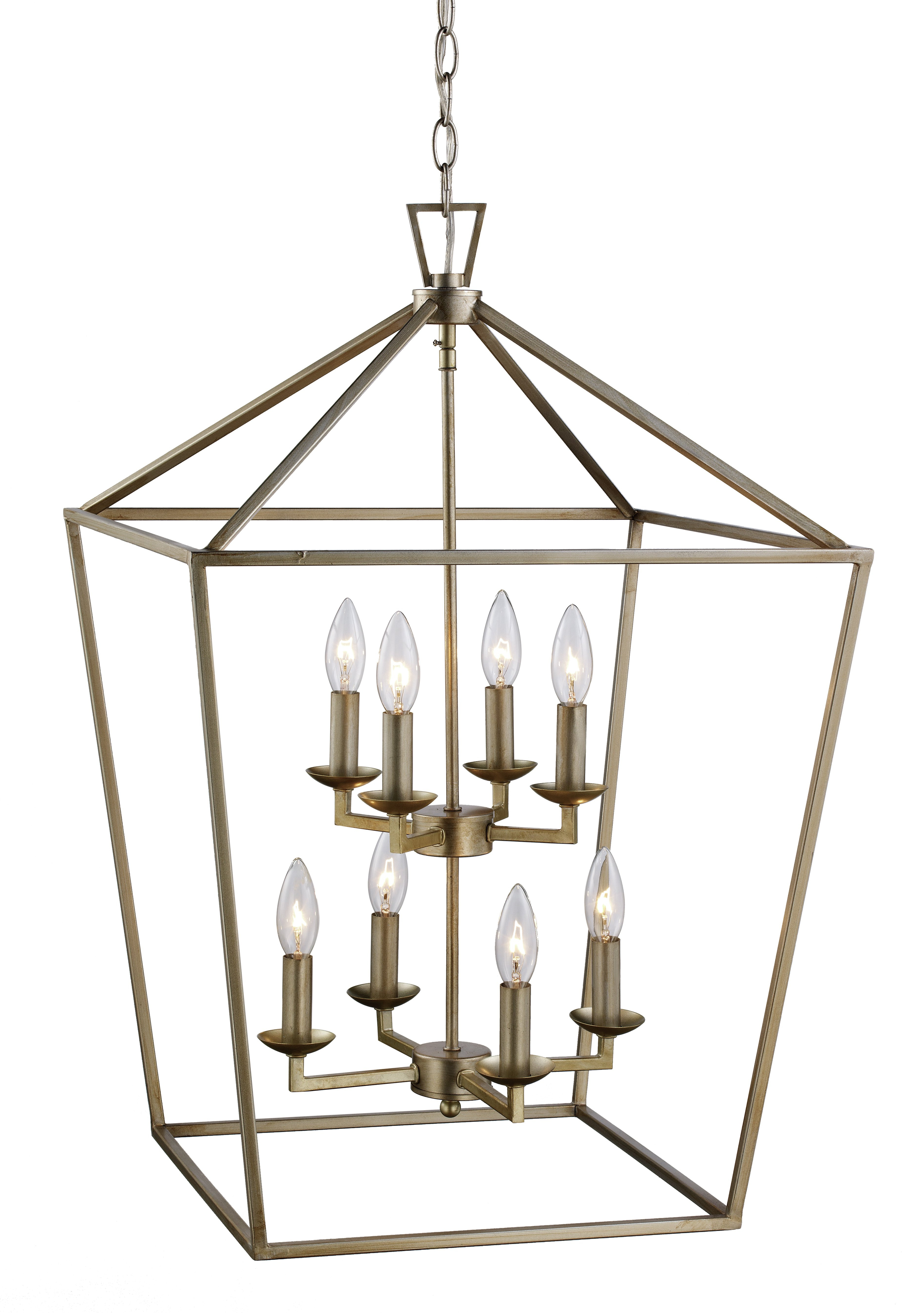 Carmen 8 Light Lantern Tiered Pendants Within Most Up To Date Carmen 8 Light Lantern Geometric Pendant (View 8 of 20)