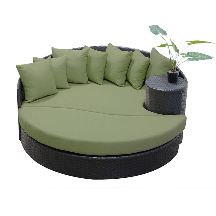 Carrasco Patio Daybeds With Cushions In Trendy Freeport Patio Daybed With Cushion (Gallery 9 of 20)
