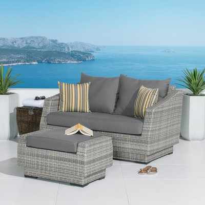 Castelli Loveseats With Cushions With Regard To Well Known Wade Logan Castelli Loveseat And Ottoman With Cushions (Gallery 5 of 20)