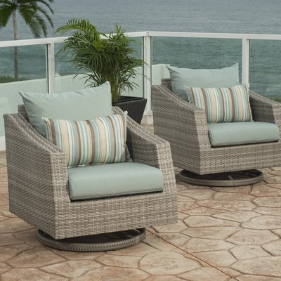 Castelli Patio Sofas With Sunbrella Cushions Within Newest Wade Logan Castelli Motion Swivel Patio Chair With Sunbrella (Gallery 16 of 20)