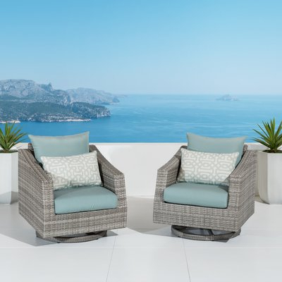 Castelli Swivel Patio Chair With Sunbrella Cushions Within Preferred Castelli Patio Sofas With Sunbrella Cushions (Gallery 17 of 20)