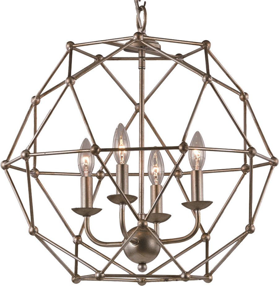 Cavanagh 4 Light Geometric Chandeliers Intended For Most Recent Cavanagh 4 Light Geometric Chandelier (View 7 of 20)