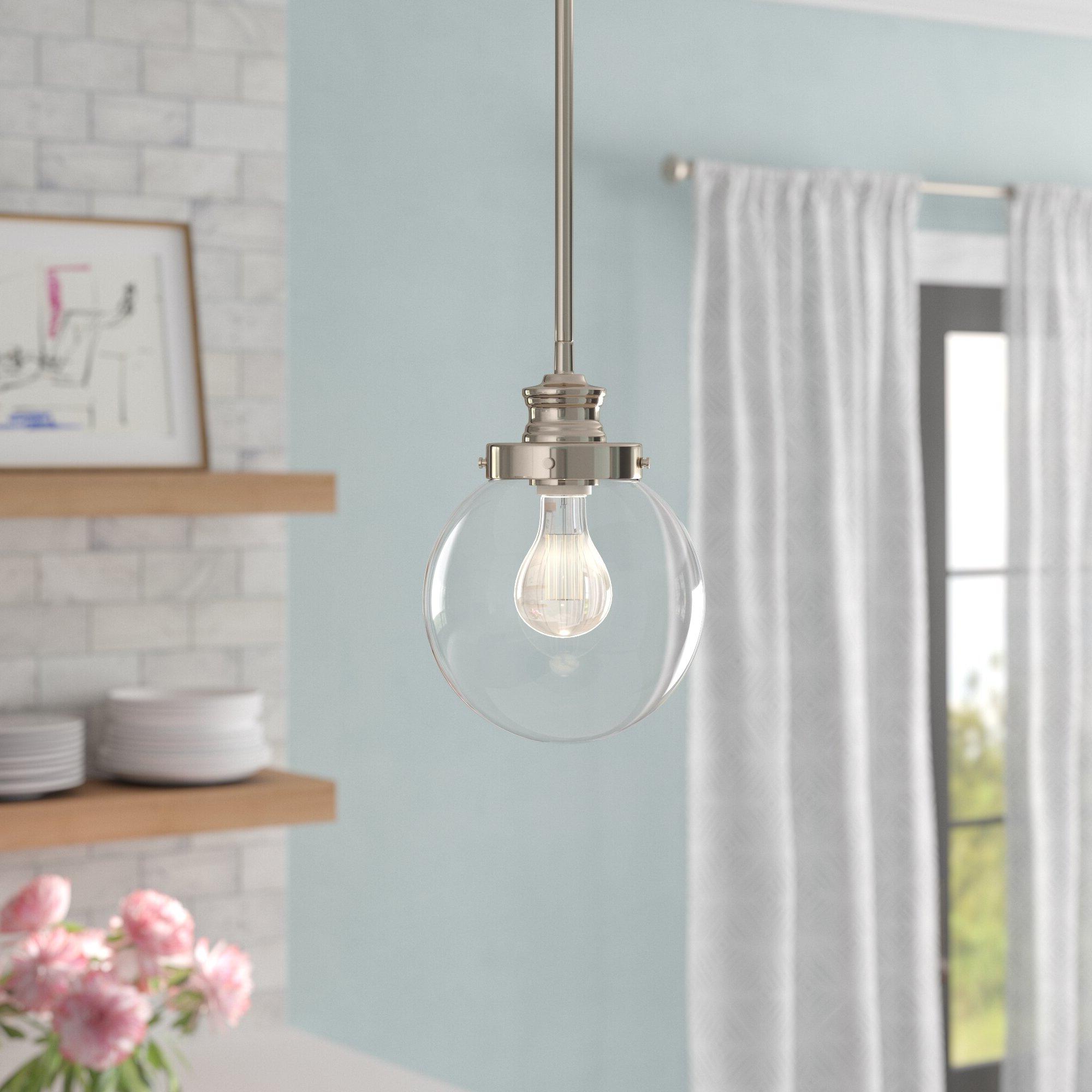 Cayden 1 Light Single Globe Pendant Within Popular Bautista 1 Light Single Globe Pendants (View 11 of 20)