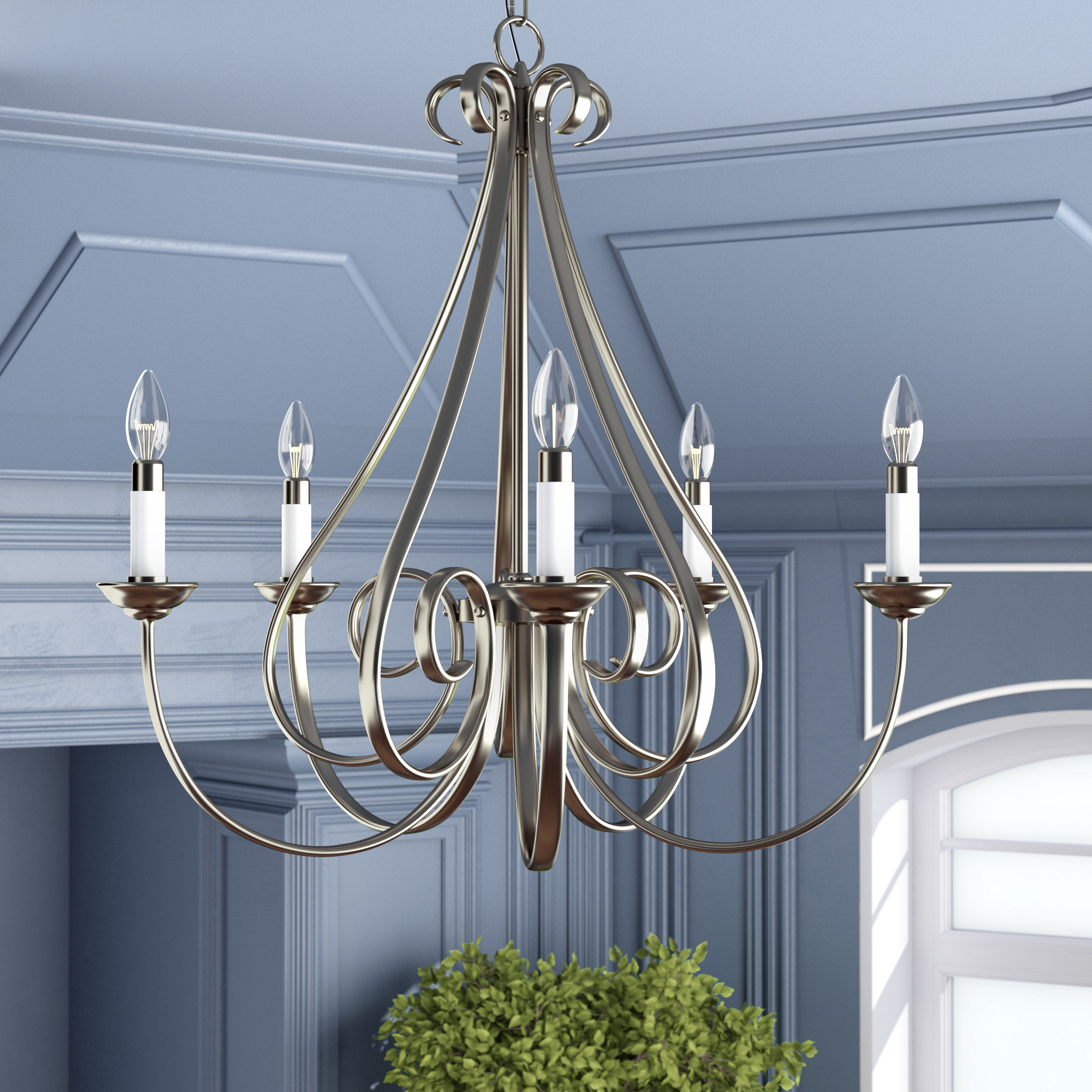 Cayman 5 Light Candle Style Chandelier Inside Current Berger 5 Light Candle Style Chandeliers (Gallery 4 of 20)