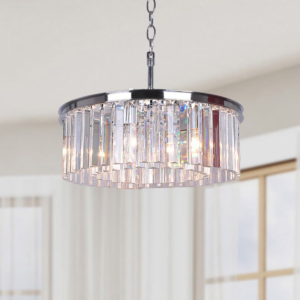 Ceiling Lighting Pertaining To Widely Used Verdell 5 Light Crystal Chandeliers (View 5 of 20)