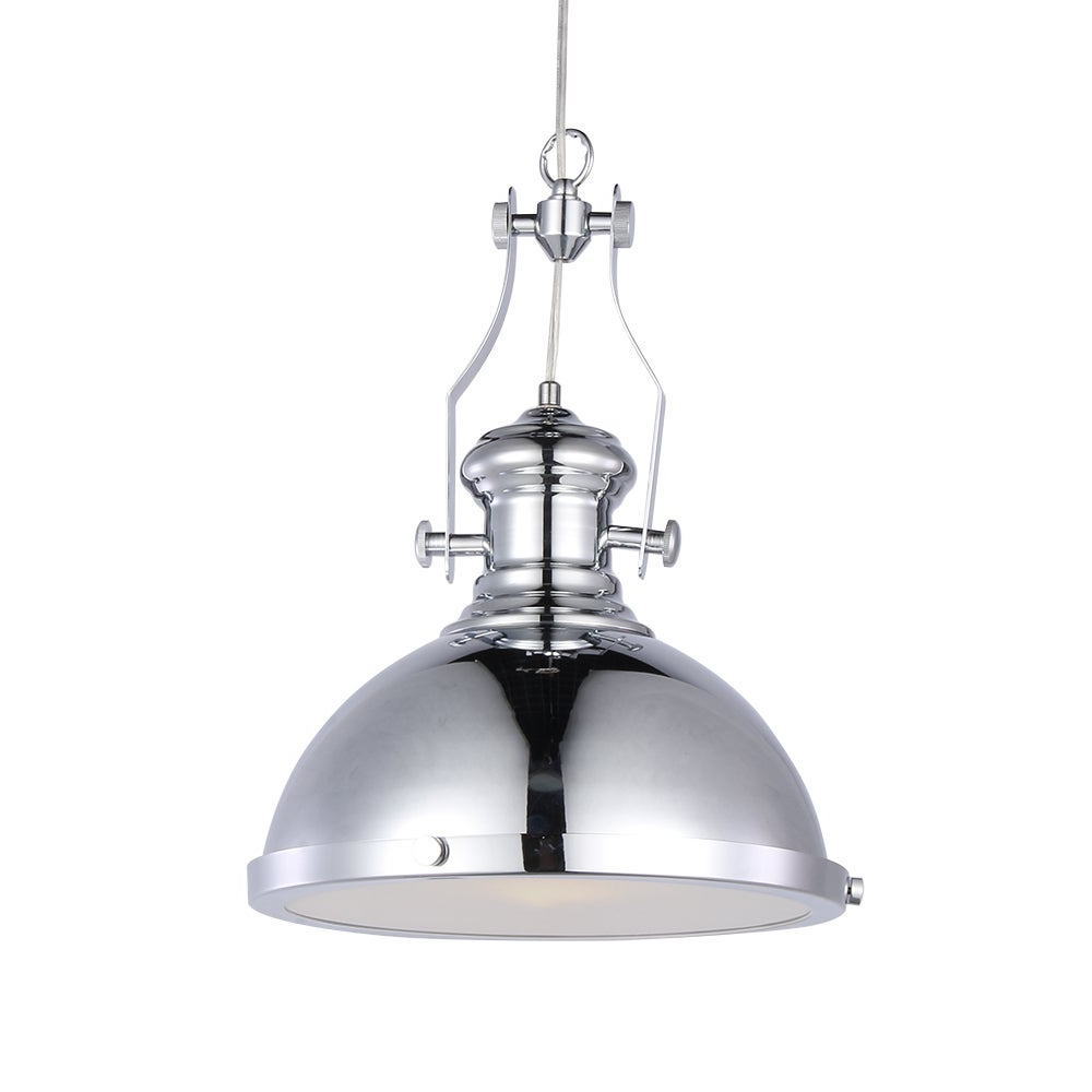 Celone 1 Light Chrome 13 Inch Pendant Lamp In Fashionable Devereaux 1 Light Single Globe Pendants (Gallery 19 of 20)