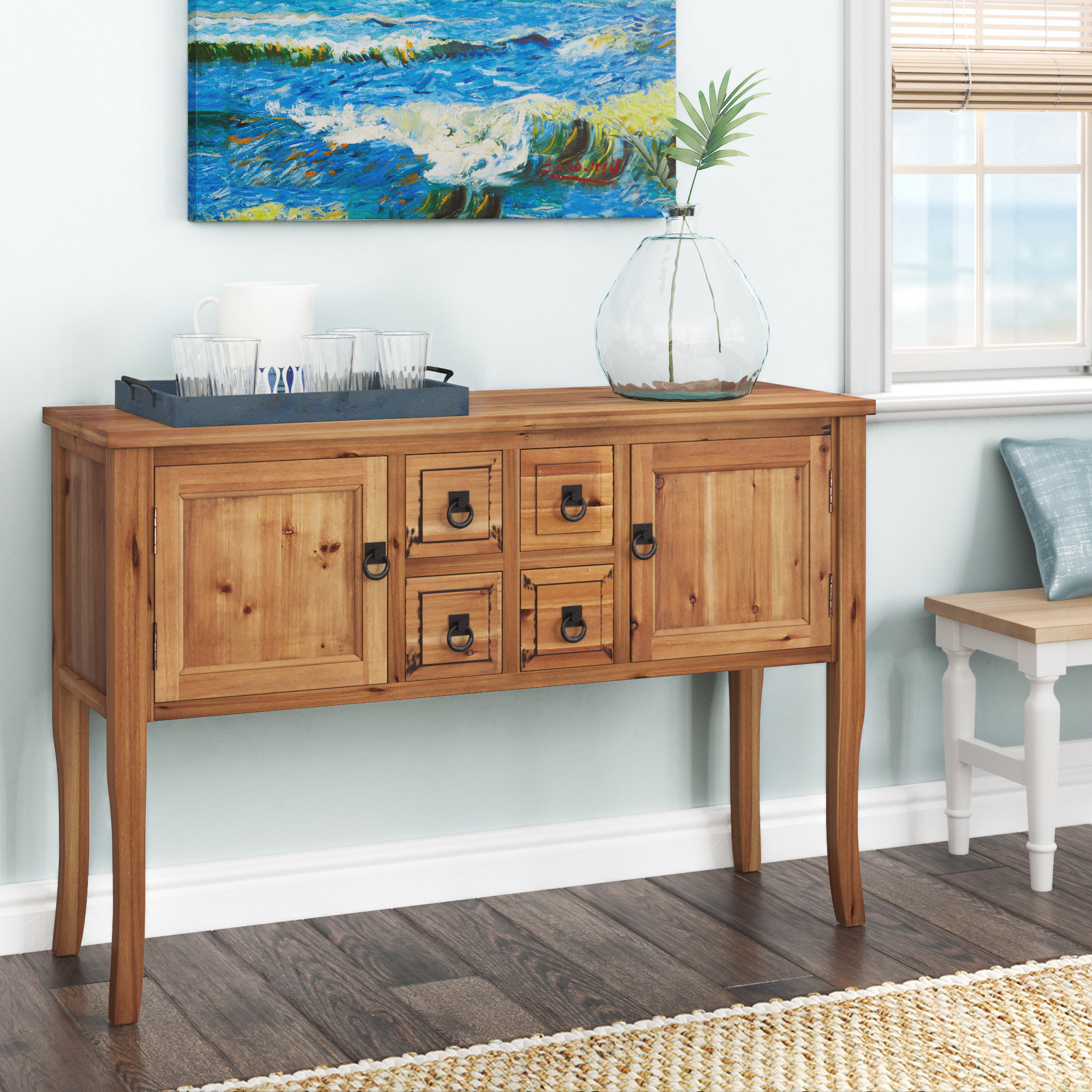 Chaffins Sideboards Intended For Fashionable Solid Wood Sideboards & Buffets You'll Love In 2019 (Gallery 9 of 20)
