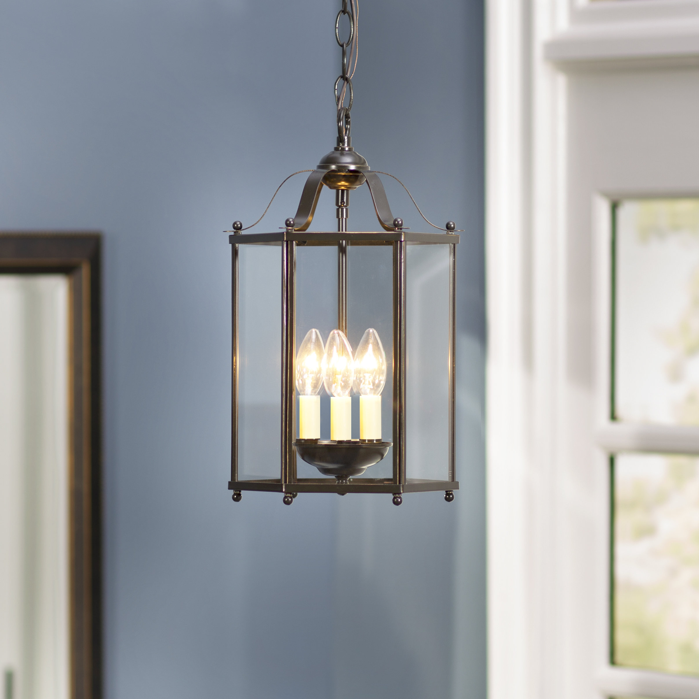 Chauvin 3 Light Lantern Geometric Pendants For Most Current Leiters 3 Light Lantern Geometric Pendant (Gallery 2 of 20)